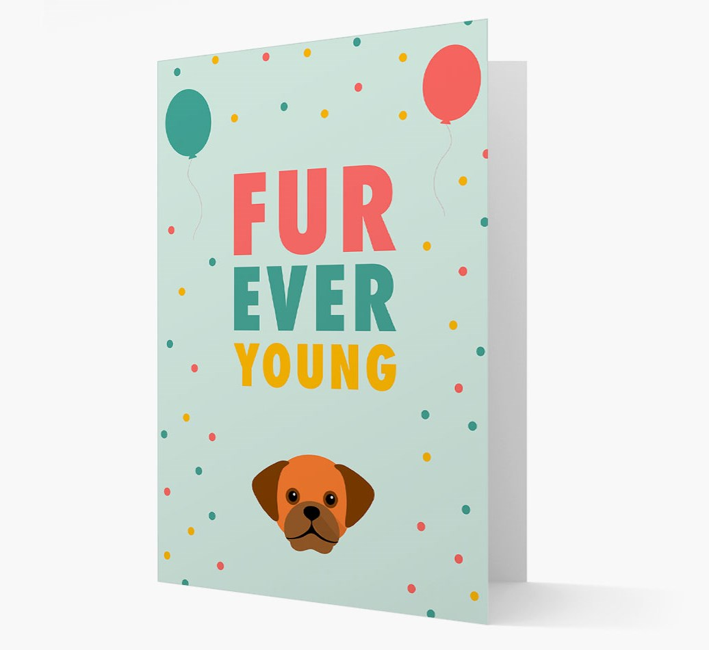 'Fur-Ever Young' Card with Puggle icon