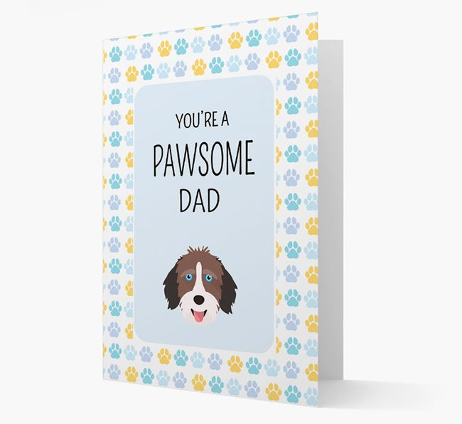 'You're a Pawsome Dad' Card with Aussiedoodle Icon