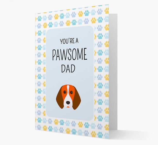 'You're a Pawsome Dad' Card with Beagle Icon