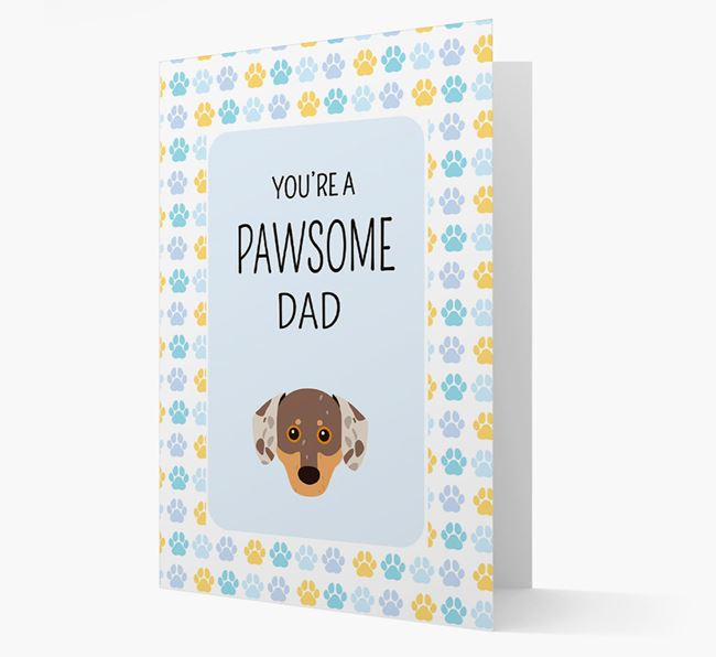 'You're a Pawsome Dad' Card with Chiweenie Icon