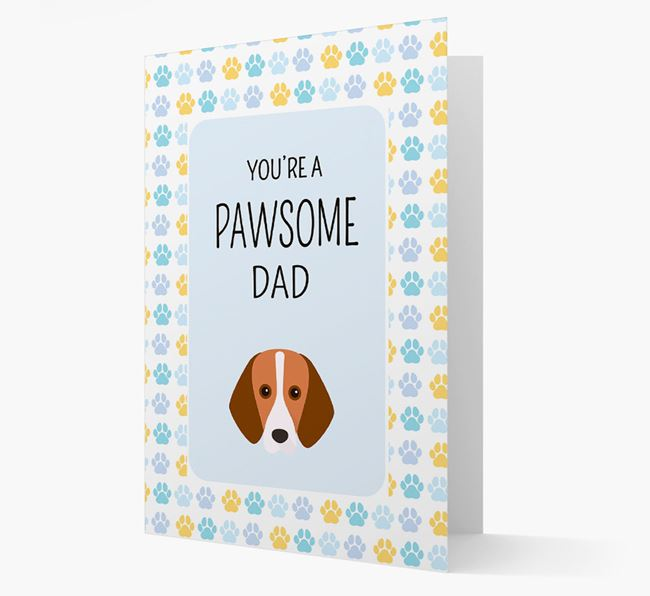 'You're a Pawsome Dad' Card with Foxhound Icon