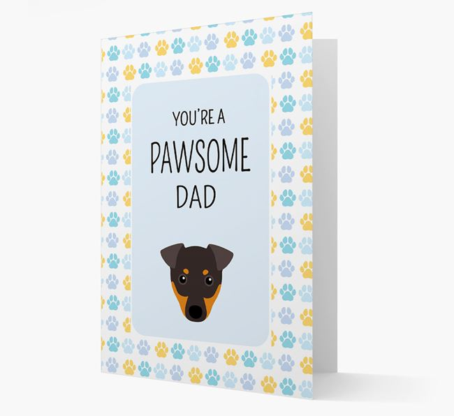 'You're a Pawsome Dad' Card with Dog Icon