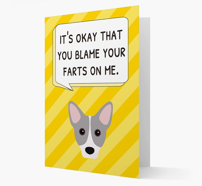 'Blame Your Farts on Me' Card with Cojack Icon
