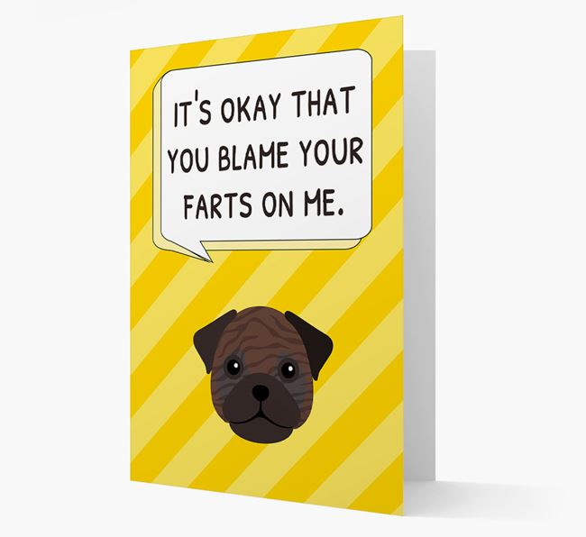 'Blame Your Farts on Me' Card with Frug Icon