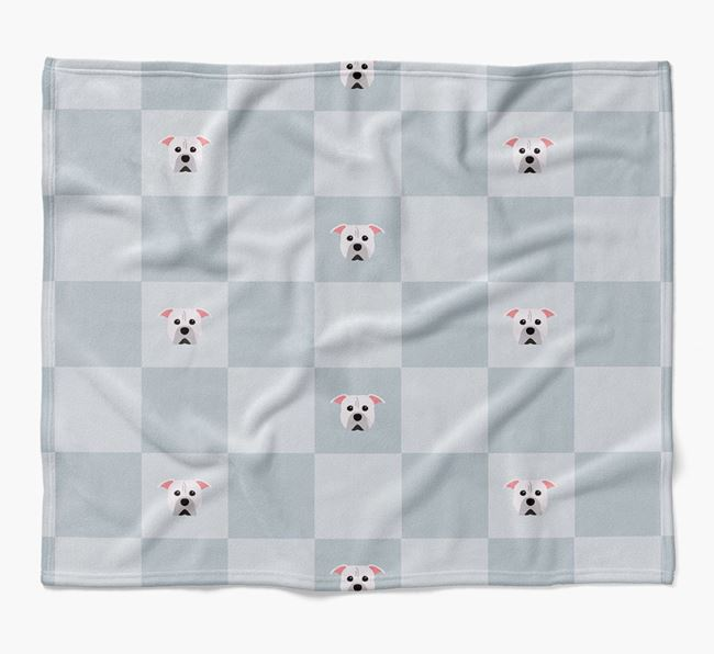 Luxury American Pit Bull Terrier Checkerboard Blanket