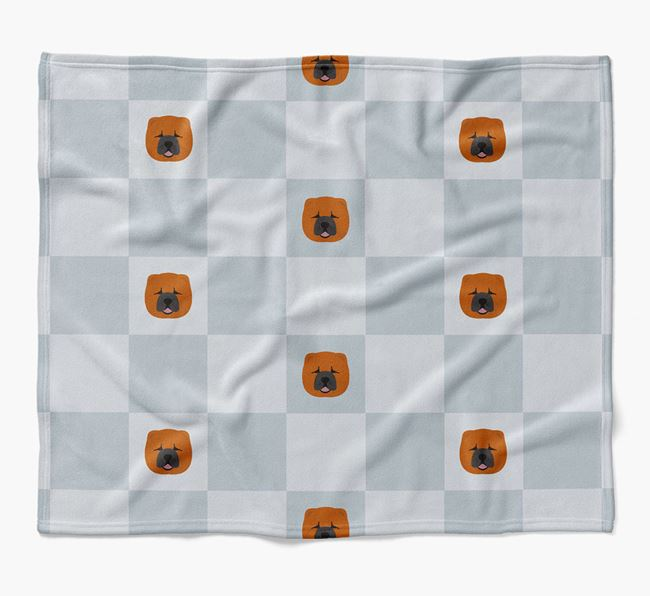 Luxury Chow Chow Checkerboard Blanket