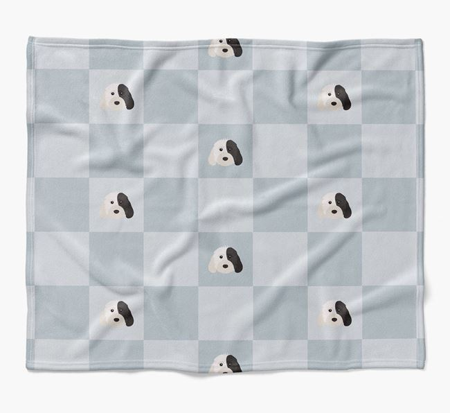 Luxury Cockapoo Checkerboard Blanket