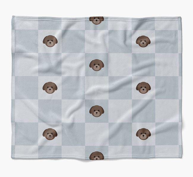 Luxury Toy Poodle Checkerboard Blanket
