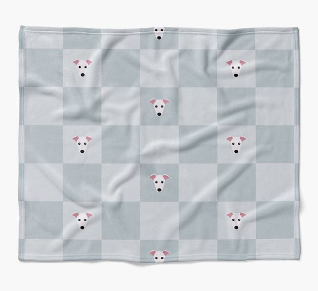 Luxury Whippet Checkerboard Blanket