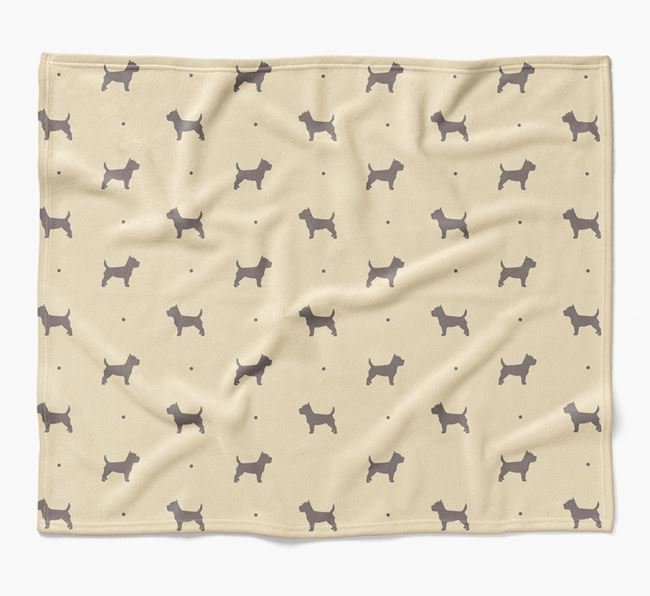 Luxury Cairn Terrier Silhouette Blanket
