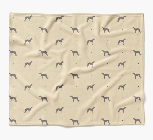 Luxury Greyhound Silhouette Blanket