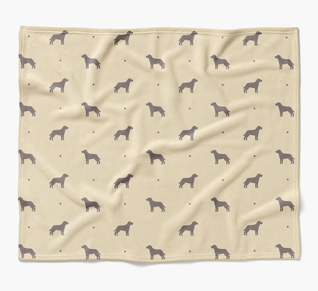 Luxury Mixed Breed Silhouette Blanket