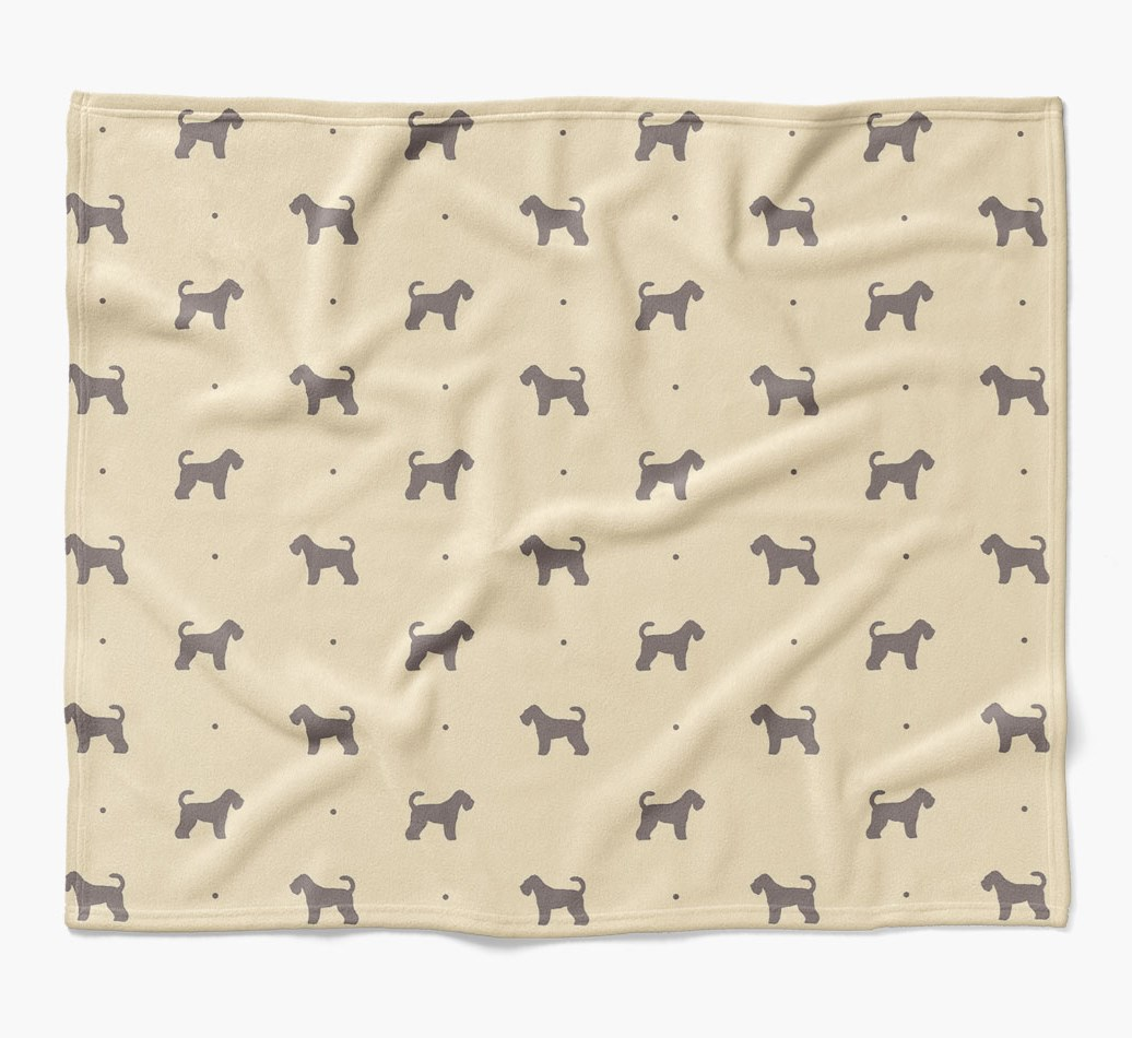 Schnoodle Dog Blanket with silhouette pattern in {colour} flat