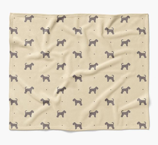 Luxury Schnoodle Silhouette Blanket