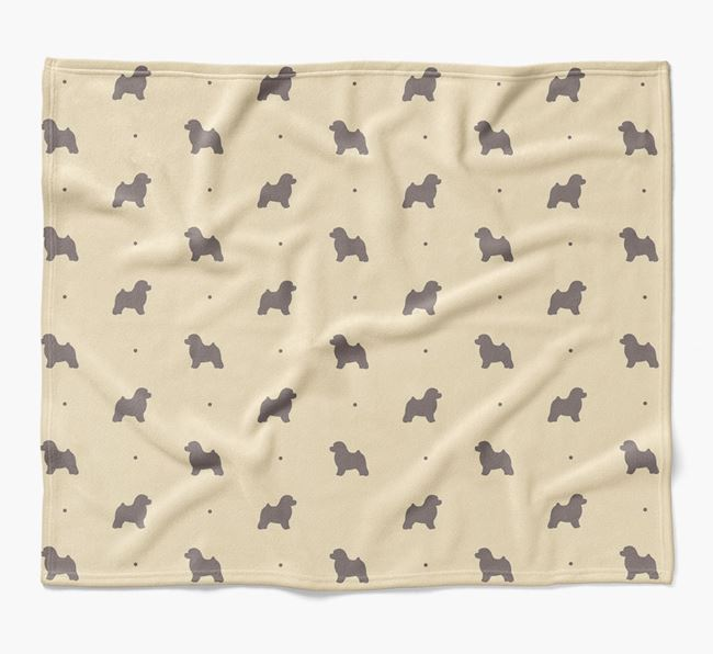 Luxury Toy Poodle Silhouette Blanket