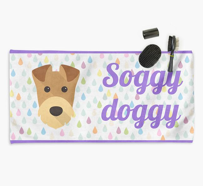 'Soggy Doggy' Towel for your Airedale