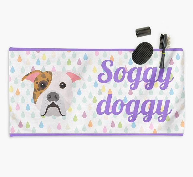 'Soggy Doggy' Towel for your American Bulldog