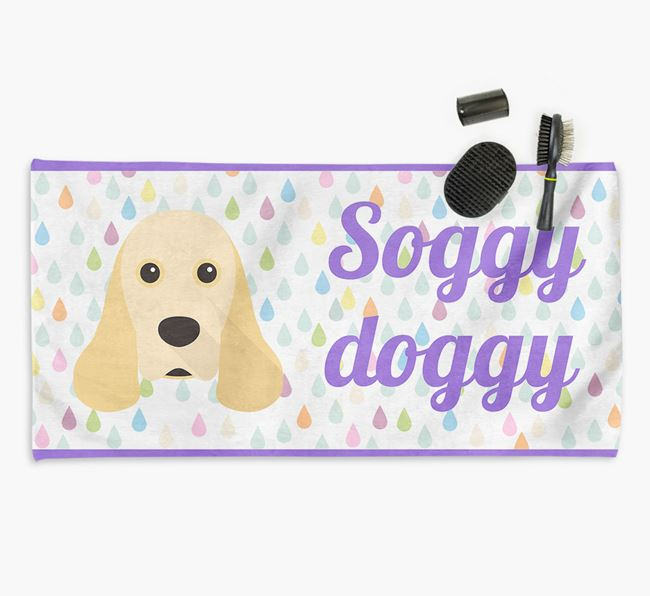 'Soggy Doggy' Towel for your Cocker Spaniel