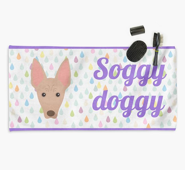 'Soggy Doggy' Towel for your American Hairless