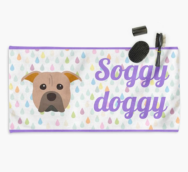 'Soggy Doggy' Towel for your Pit Bull Terrier