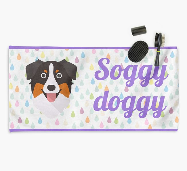 'Soggy Doggy' Towel for your Aussie Shepherd