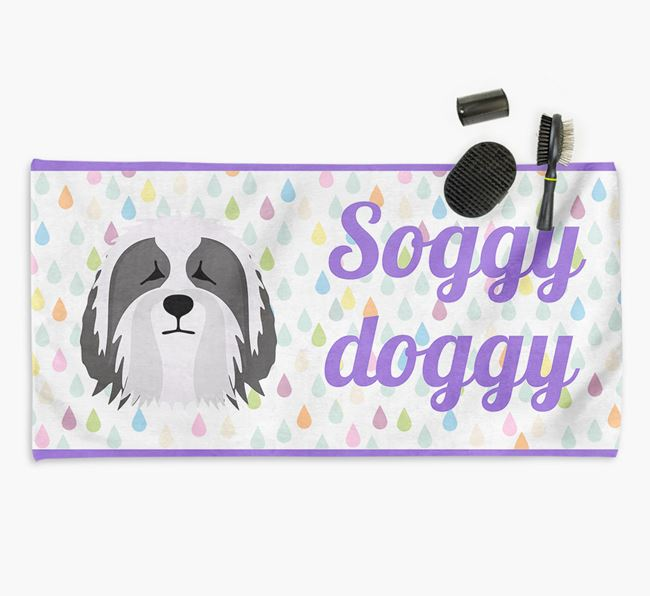 'Soggy Doggy' Towel for your Bearded Collie