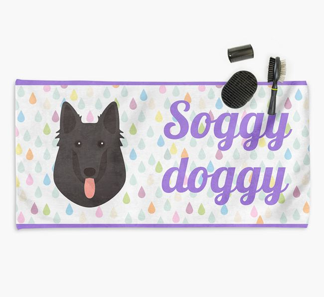 'Soggy Doggy' Towel for your Belgian Shepherd