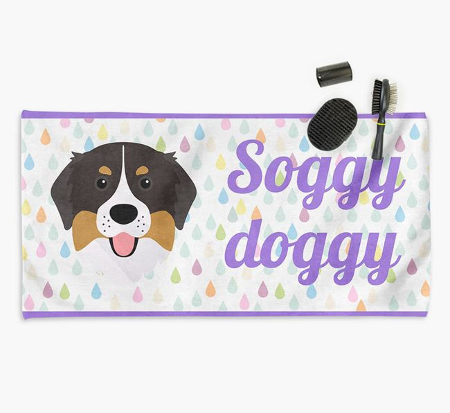 'Soggy Doggy' Towel for your Bernese