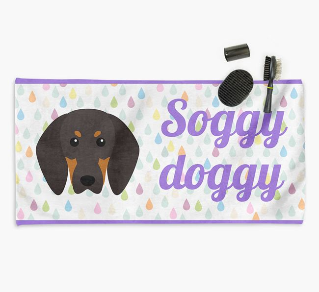 'Soggy Doggy' Towel for your Coonhound
