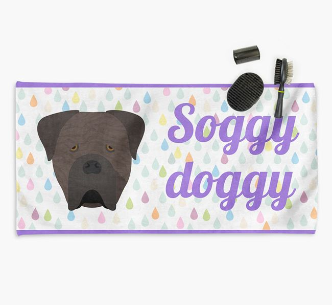 'Soggy Doggy' Towel for your Cane Corso