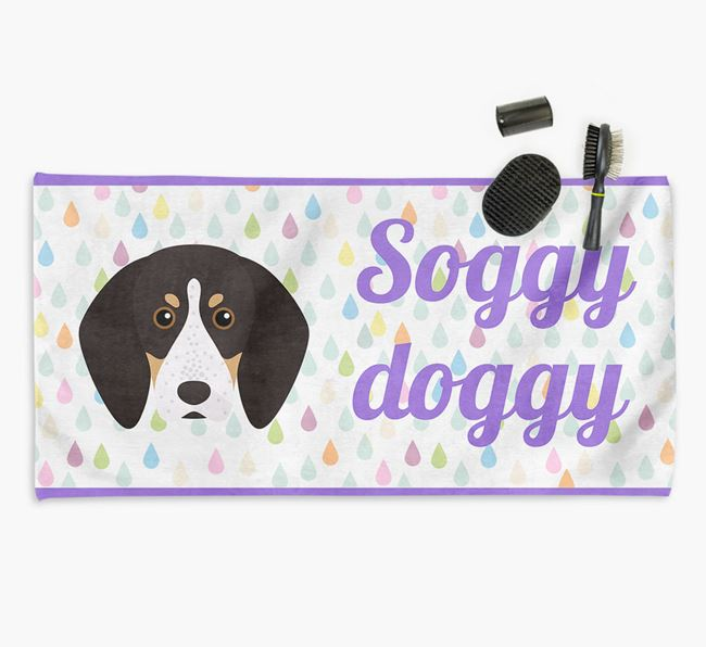 'Soggy Doggy' Towel for your English Coonhound