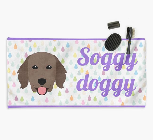 'Soggy Doggy' Towel for your Flatcoat