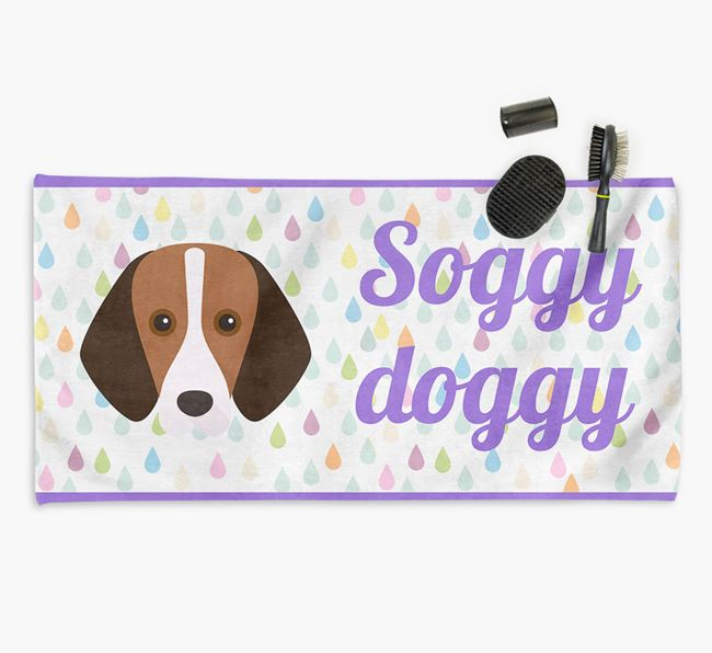 'Soggy Doggy' Towel for your Foxhound