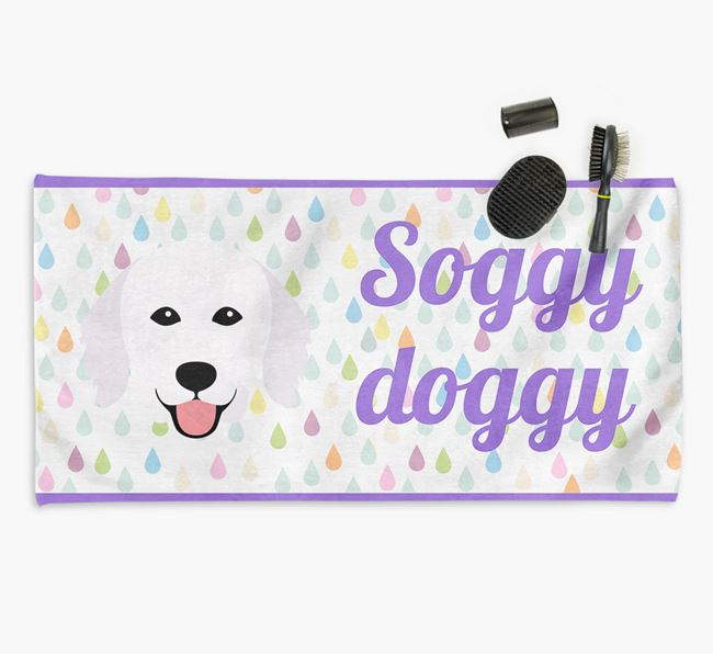 'Soggy Doggy' Towel for your Kuvasz