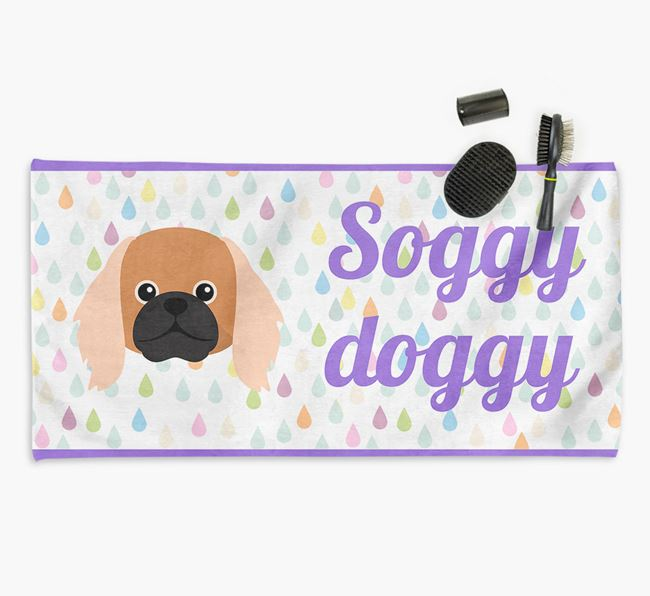 'Soggy Doggy' Towel for your Pekingese