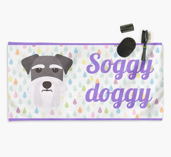 'Soggy Doggy' Towel for your Schnauzer