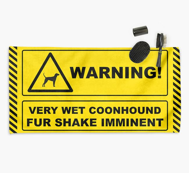 'Fur Shake Imminent' Coonhound Towel