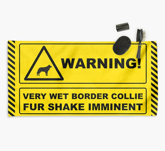 'Fur Shake Imminent' Border Collie Towel