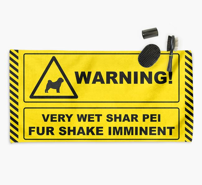 'Fur Shake Imminent' Dog Towel