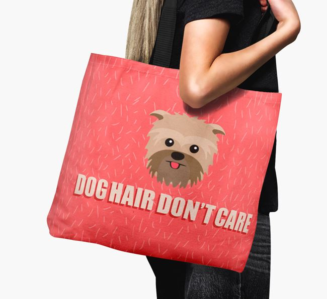 'Dog Hair Don't Care' Canvas Bag with Affenpinscher Icon