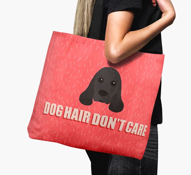 'Dog Hair Don't Care' Canvas Bag with American Cocker Spaniel Icon