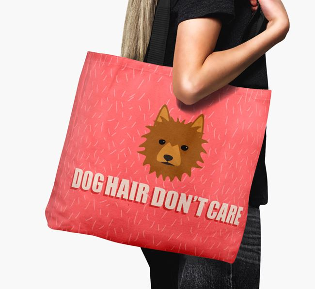 'Dog Hair Don't Care' Canvas Bag with Australian Terrier Icon