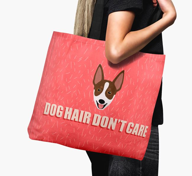 'Dog Hair Don't Care' Canvas Bag with Australian Working Kelpie Icon