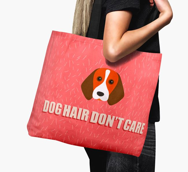 'Dog Hair Don't Care' Canvas Bag with Beagle Icon