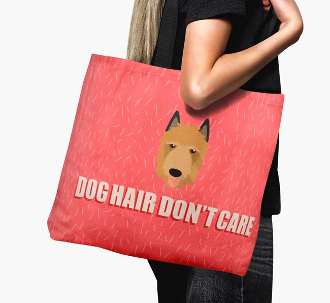 'Dog Hair Don't Care' Canvas Bag with Belgian Laekenois Icon
