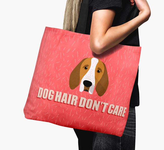 'Dog Hair Don't Care' Canvas Bag with Bracco Italiano Icon