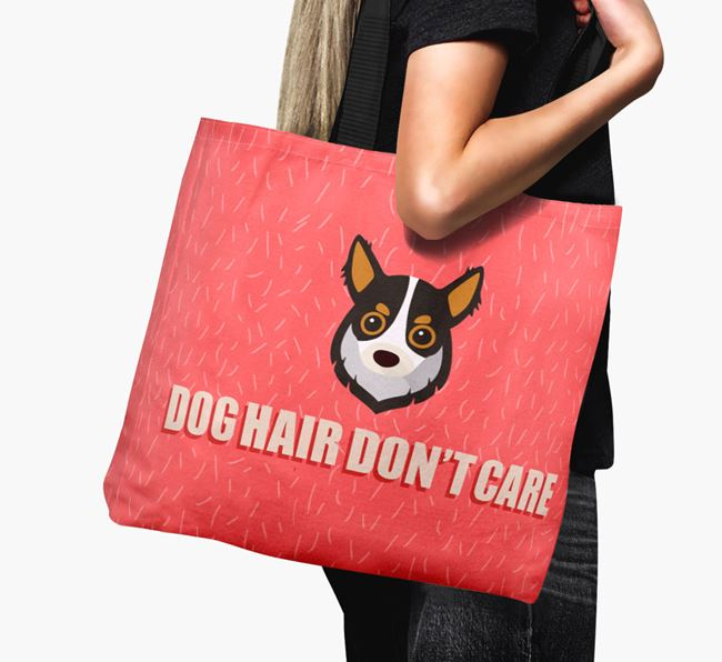 'Dog Hair Don't Care' Canvas Bag with Chihuahua Icon
