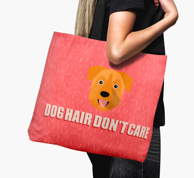 'Dog Hair Don't Care' Canvas Bag with Chinook Icon