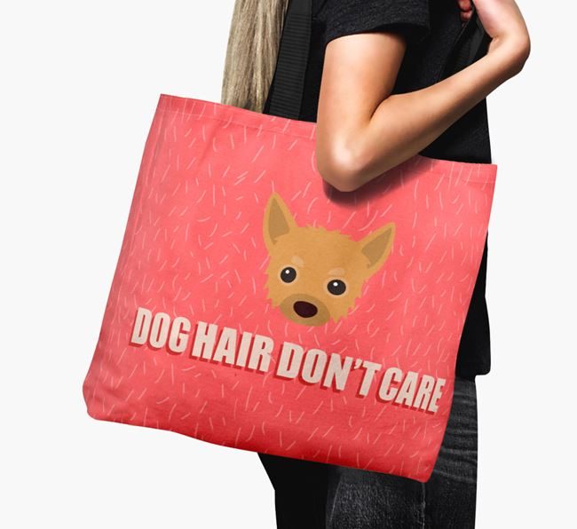 'Dog Hair Don't Care' Canvas Bag with Chipoo Icon