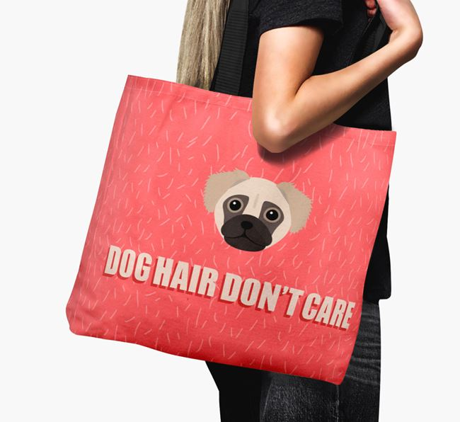 'Dog Hair Don't Care' Canvas Bag with Chug Icon
